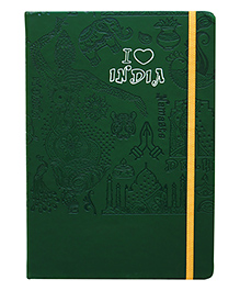 Tiara Diaries A5 Size I Love India Teal Green - 224 Pages