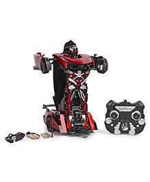 Turboz Remote Control Transforming Car Cum Robot - Red