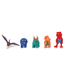 Wild Republic Baby Dinosaurs Playset Pack Of 5 - Multi Colour