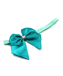 Magic Needles Elastic Headband With Bow - Blue