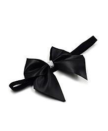 Magic Needles Elastic Headband With Bow - Black