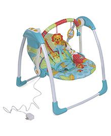 Mastela Deluxe Portable Swing Lion Print - Blue