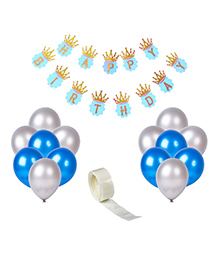 Party Propz Birthday Decoration Set With Tape - Blue