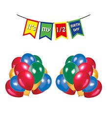 Party Propz Half Birthday Party Decoration Combo - Multicolor