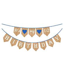 Party Propz Half Birthday Party Decoration Banner - Multicolour