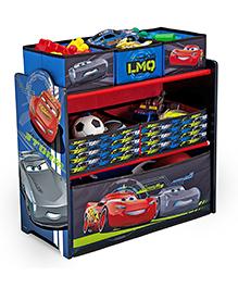 Disney Pixar Cars Cars Wooden Multi-Bin Toy Organiser - Multicolour