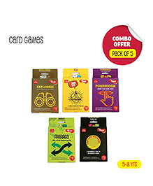 Toiing Educational Card Game Return Gift Combo Set Of 5 - Multi Color