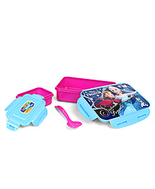 Disney Frozen Lunch Box With Clip Lock - Pink Blue