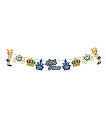 Party Propz Little Prince Party Banner - Blue