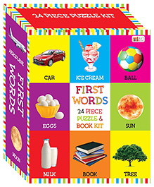 Art Factory First Words Puzzle & Book Kit Multicolour - Pack Of 24 Pieces