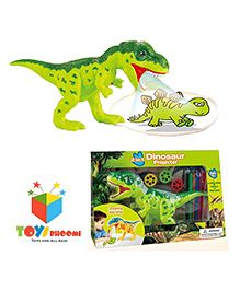 Toys Bhoomi 2 In 1 Dinosaur Projector Toy - Green