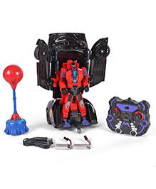 TurboZ Battle Transforming Car Cum Robot - Red Blue