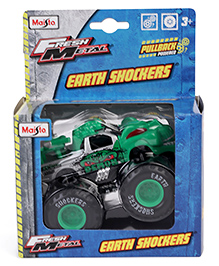 Maisto Earth Shockers Pull Back Die-Cast Model - Green & Black - 2172397