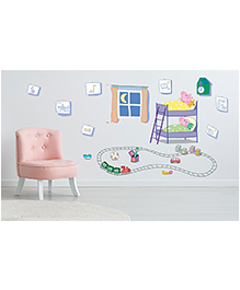 Asian Paints Peel & Stick Peppa Pig Extra Large Wall Sticker Pack Of 14 Pieces - Multicolour - 2173240