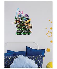 Asian Paints Peel & Stick Teenage Mutant Ninja Turtle Themed Wall Sticker Extra Large - Multicolour - 2173275