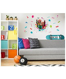 Asian Paints Peel And Stick Motu Patlu Party Time Wall Sticker Extra Large - Multicolor