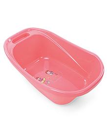Baby Bath Tub Boy & Girl Print - Pink