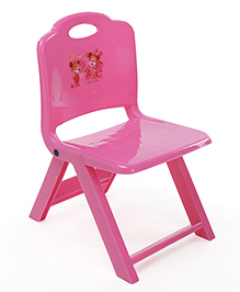 Foldable Baby Chair With In Built Handle - Pink