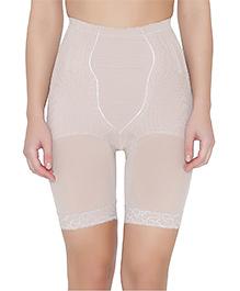 Clovia High Waist Thigh Shaper - Off White
