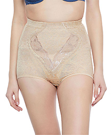 Clovia Tummy Control High Waist Brief - Beige
