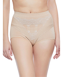Clovia Tummy Tucking High Waist Brief - Beige - 2175748