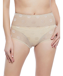 Clovia Tummy Tucking High Waist Brief - Beige - 2175752