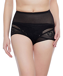 Clovia Tummy Tucking High Waist Brief - Black - 2175756