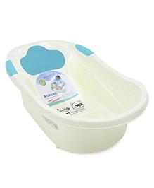 Baby Bath Tub Animal Print - Blue White