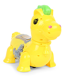 Playmate Musical Horse Toy Yellow - Length 24.5 Cm
