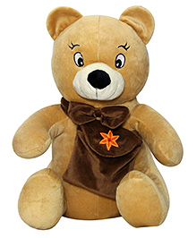 Soft Buddies Bear Soft Toy With Bag Brown - Height 40 Cm