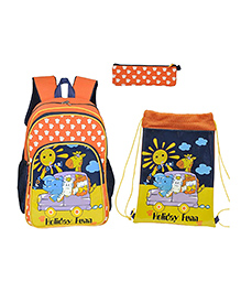 Avon Bags Backpack Combo Set Of 3 Orange - Bag Height 14 Inches