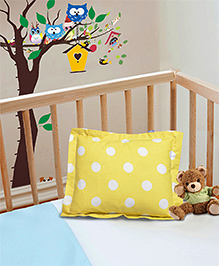 The Baby Atelier Pillow Cover Without Fillers Polka Dots - Yellow