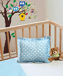 The Baby Atelier Pillow Cover With Fillers Dot & Stripe - Blue & White