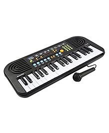 Toyshine 37 Key Piano Keyboard With Recording, Mic & Adapter - Black