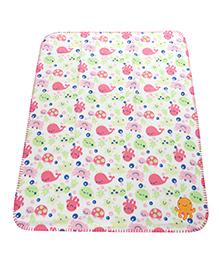 Mee Mee Multipurpose Printed Soft Baby Blanket - Multicolour