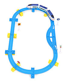 TurboS BSQ Train Track With Bullet Train Blue - 27 Pieces