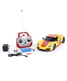Dr. Toy Super Racing Remote Control Car - Yellow & Orange