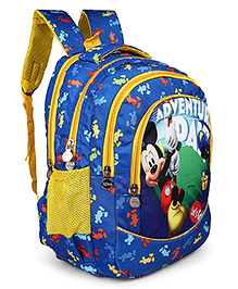 Disney Mickey Mouse & Friends School Bag Blue - Height 17 Inches