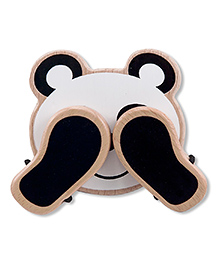 Melissa & Doug Wooden Peek-a-Boo Panda Toy - Black White