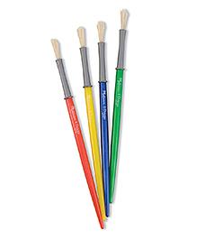 Melissa & Doug Fine Paint Brushes Set Of 4 - Multicolour