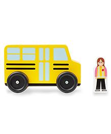 Melissa & Doug Wooden Community Vehicle Pack Of 4 - Yellow