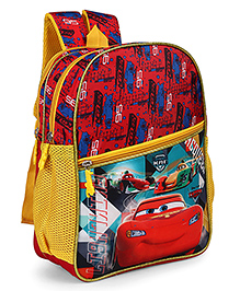 Disney Pixar Cars School Bag Yellow - Height 13 Inches