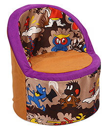 Luvely Kids Sofa Chair - Brown & Purple