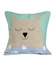 My Gift Booth Star & Bear Cushion Cover - Multicolor