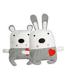 My Gift Booth Bear Cushion Set Grey - Pack Of 2