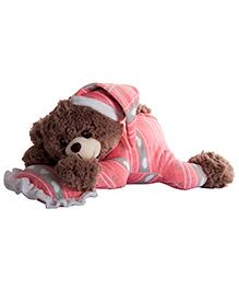 Dhoom Soft Toys Dreaming Teddy Bear Pink - Length 30 Cm