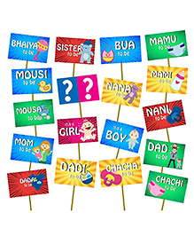 Party Propz Baby Shower Photo Booth Props Multicolour - 18 Pieces