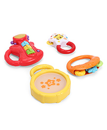Winfun Rattles Pack Of 4 - Multicolour