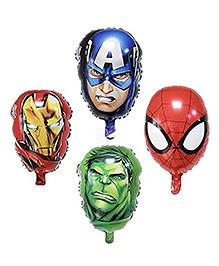 Party Propz Avengers Balloon Set Multicolour - Pack Of 4