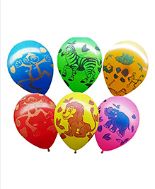 Party Propz Jungle Theme Latex Balloon Multicolour - 25 Pieces